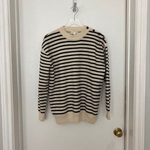 COS classic black striped thick knit wool sweater